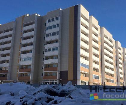 Вентилируемый фасад 9-этажный жилой дом в 144 микрорайоне Череповец